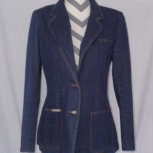 Gloria Vanderbilt Jeans Blazer Dark Wash Size 12
